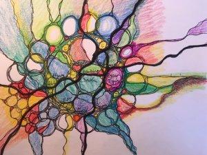neurographischer Blumenstrauß